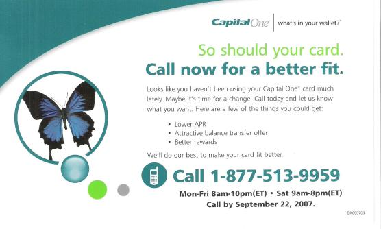 Capital One Flyer